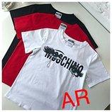 Женская футболка Мoschino,3 цвета