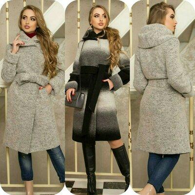 Шикарное деми пальто из шерсти. 44-58 размер