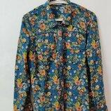Блуза рубашка бренд TU р. 14 /48модная расцветка