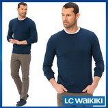 Cиний мужской свитер LC Waikiki / Лс Вайкики с круглой горловиной