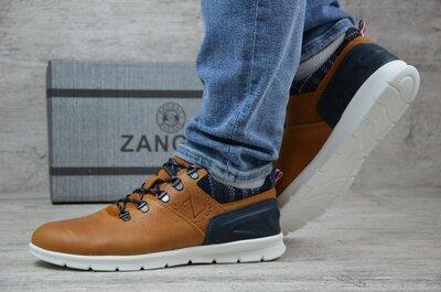 Мужские кожаные кроссовки Zangak 999 перс