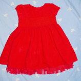 Платье нарядное M&S. Англия. На 9 мес - 1,5 года