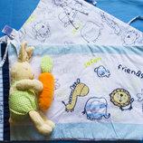 набор Мягкая игрушка Заяц с морковкой Ikea. погремушка.жираф.бортик,защита в кроватку George