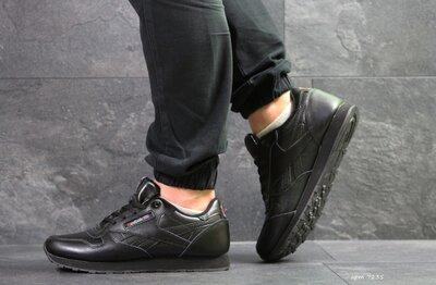 Reebok Classic кроссовки мужские демисезонные черные 7235