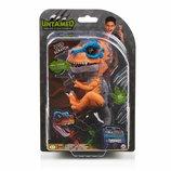 WowWee Fingerlings Dinosaur Интерактивный динозавр Ти-Рекс оригинал оранжевый