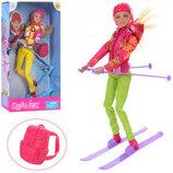 Кукла с лыжами Defa 8373 шарнирная лялька дефа типа барби