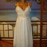 Платье сарафан хлопковое с вышивкой р.12 Atmosphere