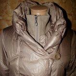 Демисезонная зимняя удлиненная курточка пальто Destino р.2/M-L новая