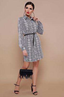 Платье -рубашка принт питон софт
