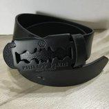 Ремень кожаный в стиле Philipp Plein Филипп Плейн , унисекс