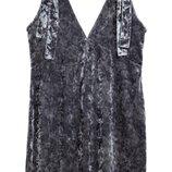 Бархатное платье 14р h&m