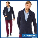 Синий мужской пиджак LC Waikiki / Лс Вайкики с латками и карманами