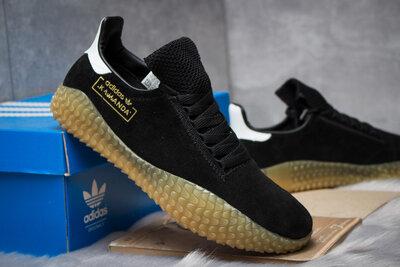 Кроссовки Adidas Kamanda, черные замша 14861 41.42.43.44.45 размер
