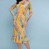 Стильное яркое принтованое женское платье