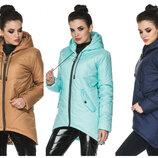 Демисезонная женская удлиненная куртка 44, 46, 48, 50, 52, 54, 56