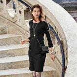 Черное платье размер 46 наш Tchibo Тсм
