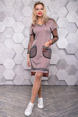 Модное кэжуал платье в спортивном стиле 42- 50р