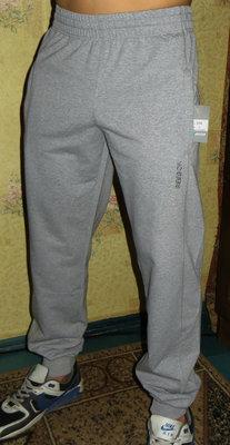 Спортивные штаны Reebok лето манжет светло- серые.
