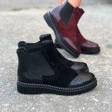 Ботинки из натуральной кожи замши Производитель Украина