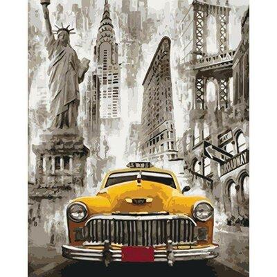 Картина по номерам Такси Нью-Йорка 40 50см KHO3506