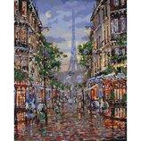 Картина мо номерам Улицами вечернего Парижа 40 50см KHO3516