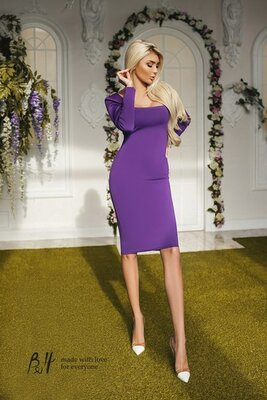 Трикотажное платье Тм В&Н фиолетовое