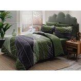 Постельное белье Tac сатин Delux - Borneo постель зеленый евро