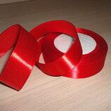 Атласная лента Красный 2.5 см