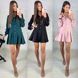 Платье стильное три расцветки