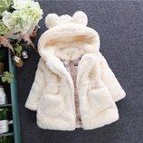 Детская куртка из искусственного меха для девочки