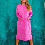 женское вязаное платье SONYA в разных цветах ож 7645