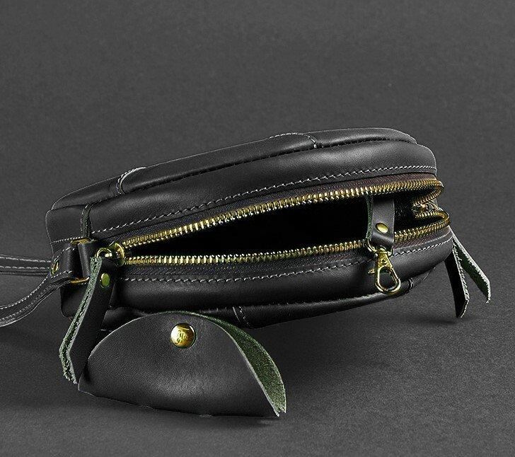 438a25b6e37d Круглая женская сумка-клатч кожаная Krast черная ручная работа : 1420 грн -  клатчи и маленькие сумки в Одессе, объявление №20453825 Клубок (ранее  Клумба)