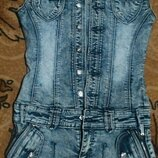 красивый и дорогой джинсовый сарафан