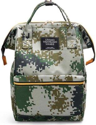 Рюкзак-Сумка камуфляжный однотонный милитари хаки с ручками унисекс вместительный