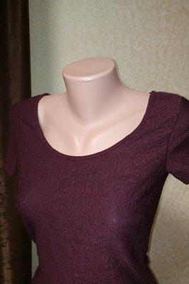 853. Эффектное мини платье с жаккардовым узором. Размер XS - S