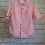 Льняная рубашка NEXT 2-3 года