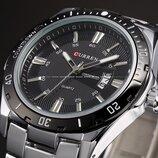 Мужские наручные часы Curren Steel. Металлические кварцевые часы с датой
