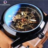 Мужские механические часы Forsining Torres. Стильные наручные часы скелетон