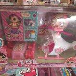 Набор Лол с машинкой/ вертолетом/L.O.L. куклы лол