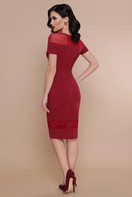 981c1ec99f1 Нарядное вечернее платье персик бордо креп дайвинг. Previous Next