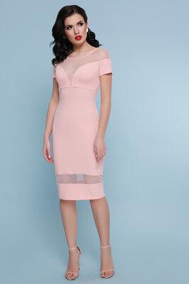 Нарядное вечернее платье персик бордо креп дайвинг