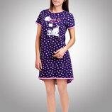 Ночная сорочка женская с вышивкой S M L XL XXL