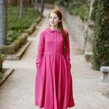 Дизайнерское яркое платье из натурального льна, цвет, размер любой. Можно для подруг невесты