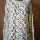 Блузка,свитшот ажурный размер 14-16 George