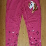 Трикотажные спортивные штаны с Единорогом для девочки