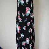 Длинное вискозное платье с принтом 16p