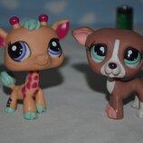 Жираф олененок Пет шопы pet shop игрушки зоомагазин Littlest pet shop LPS разные фигурки