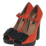 Туфли женские платформа каблук оранжевые 36,38,39 размер