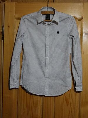 Хорошенькая приталенная х/б рубашка пастельной расцветки G-Star Raw M.