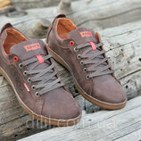 Мужские кожаные туфли кроссовки